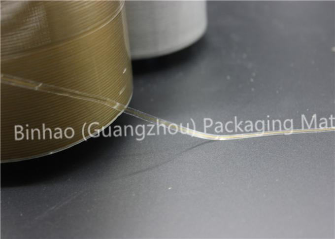 Biaxially Oriented Polyester Tear Strip Tape , Gold Stamping Self Adhesive Tear Tape
