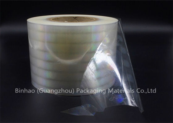 China Anti Counterfeiting BOPP Holographic Film , Holographic Transparent Matt Bopp Film factory