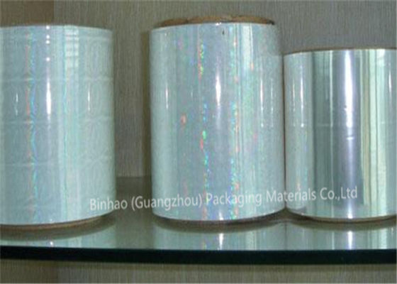 High Moisture Proof BOPP Holographic Film , Silicone Coated Polyester Film