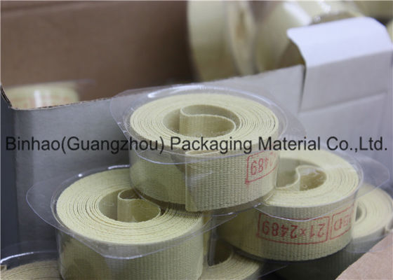 China Light Yellow Glass Fiber Garniture Tape For Tabocco / Cigarette Machine factory