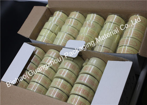 Light Yellow Liner Material Fiber Packing Tape High Temperature Resistant