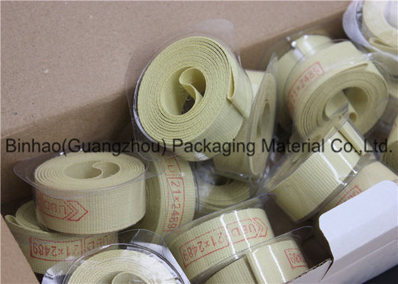 100 Percent  Aramid / Kevlar Garniture Fiber Tape Rolls High Intensity