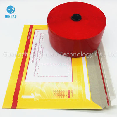 Red MOPP PET Tobacco Cigarette Tear Tape 30mic - 50mic Thickness